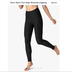 Beyond Yoga Can't Quilt You High Waisted Leggings